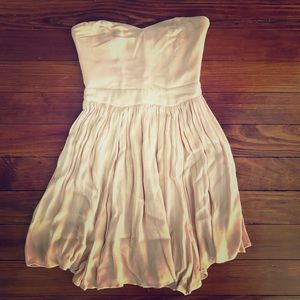 Urban Outfitters blush pink strapless dress